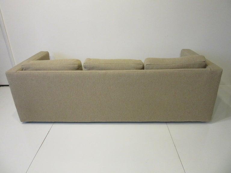 20th Century Milo Baughman Tuxedo Styled Sofa for Thayer Coggin For Sale