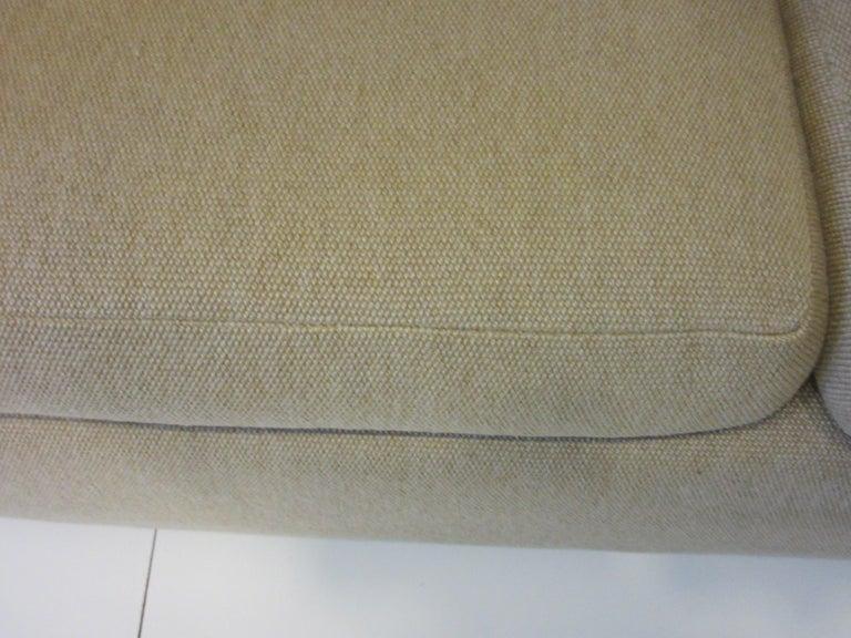 Upholstery Milo Baughman Tuxedo Styled Sofa for Thayer Coggin For Sale