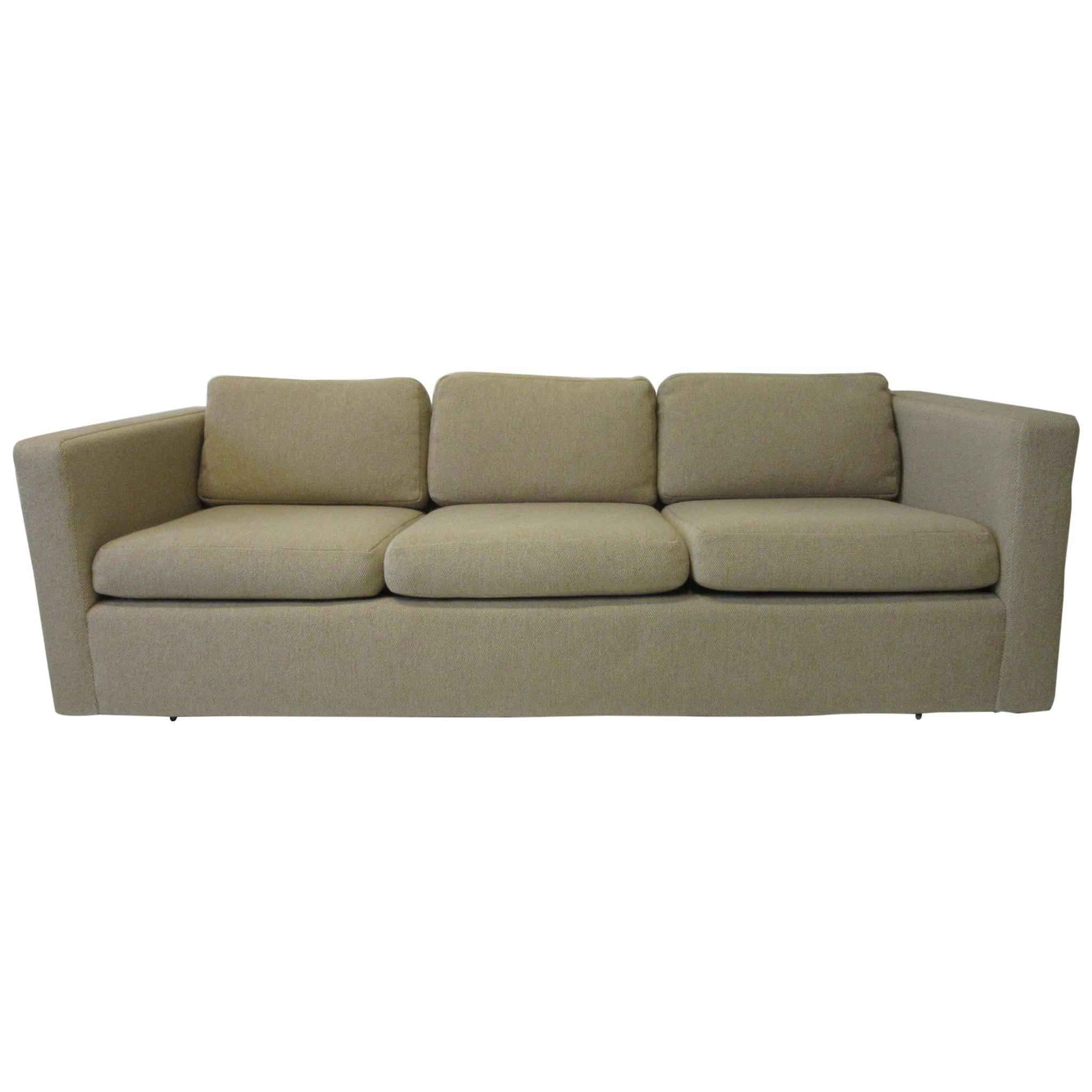 Milo Baughman Tuxedo Styled Sofa for Thayer Coggin