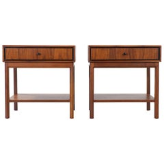 Two-tier Nightstands Designed by Jack Cartwright for Founders circa 1963