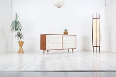 Milo Baughman Two-Tone Lacquered and Walnut Dresser for Glenn of California