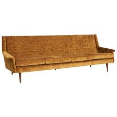 Milo Baughman Walnut Leg Sofa