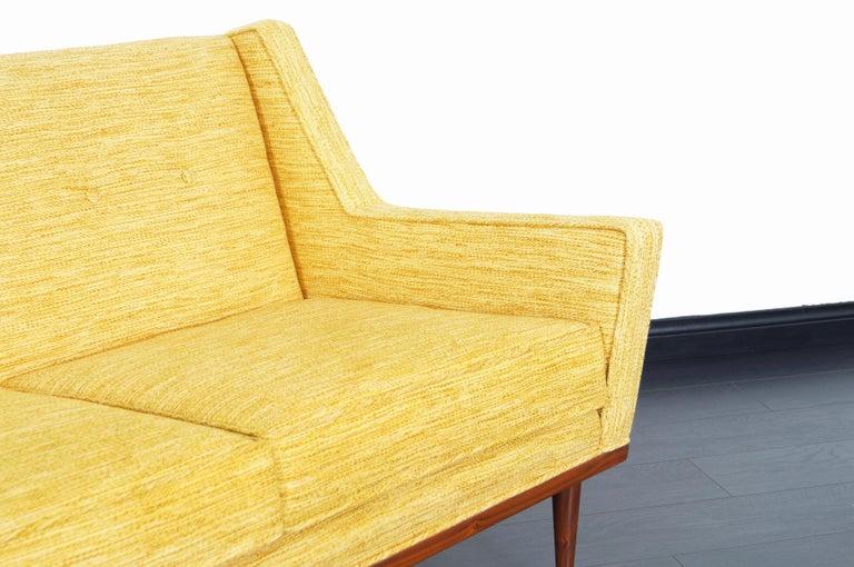 Mid-Century Modern Vintage Walnut Sofa by Milo Baughman for James Inc. For Sale