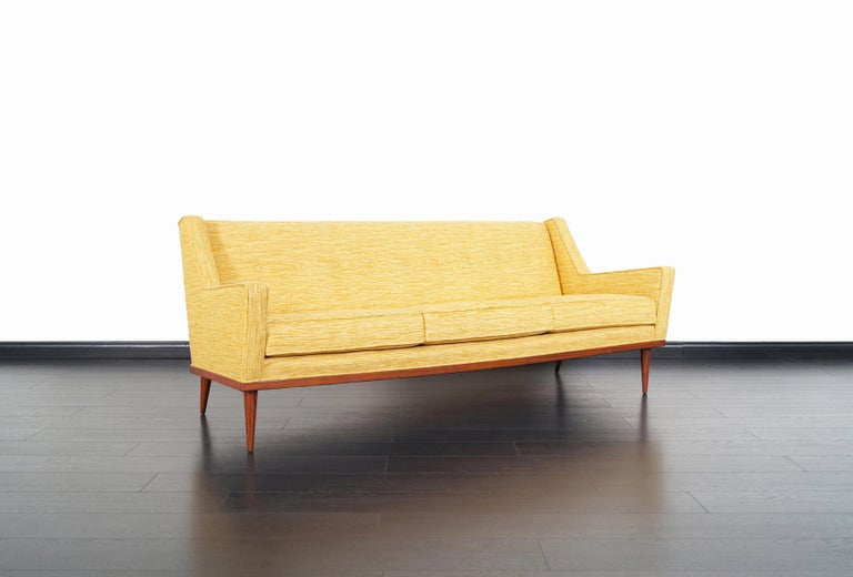 American Vintage Walnut Sofa by Milo Baughman for James Inc. For Sale
