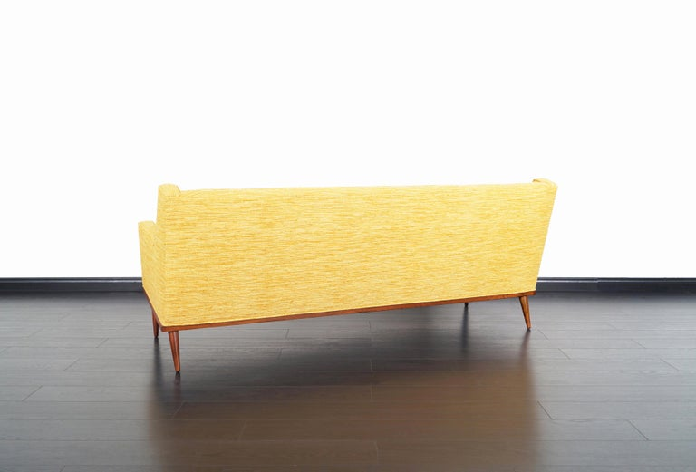 Mid-20th Century Vintage Walnut Sofa by Milo Baughman for James Inc. For Sale