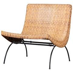 Milo Baughman Woven Lounge Chair