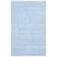 Milo, Contemporary Solid Hand Loomed Area Rug, Light Blue