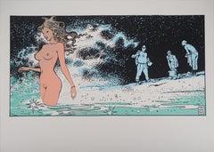 Venus on the Beach - Original Screen Print