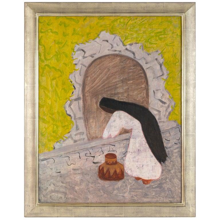 """Milton Avery """"Agua"""" Oil on Canvas, USA, 1946 For Sale"""