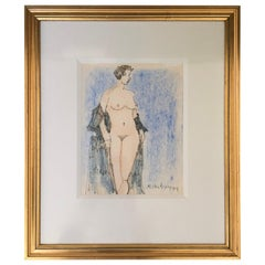 Milton Avery Nude Drawing