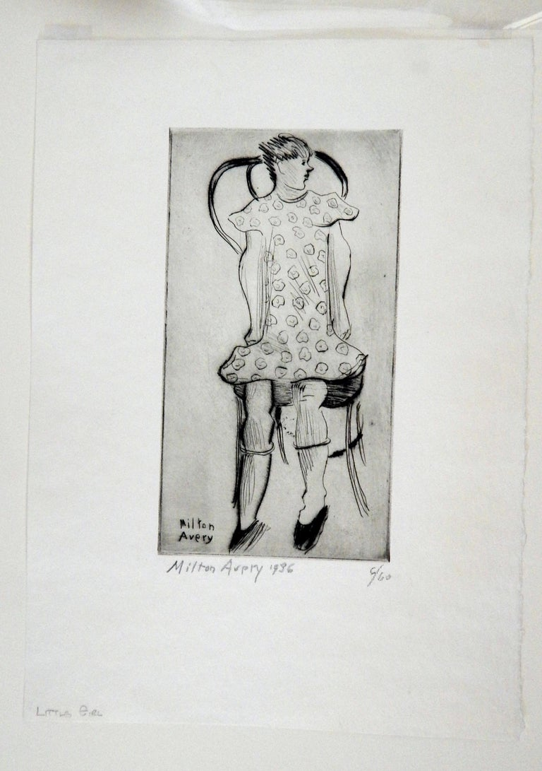 Original Etching by Modernist Milton Avery (1885-1965) 