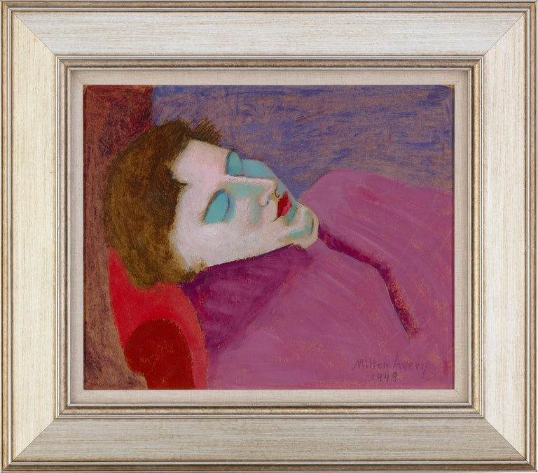 Sleeping Sally - Painting by Milton Avery