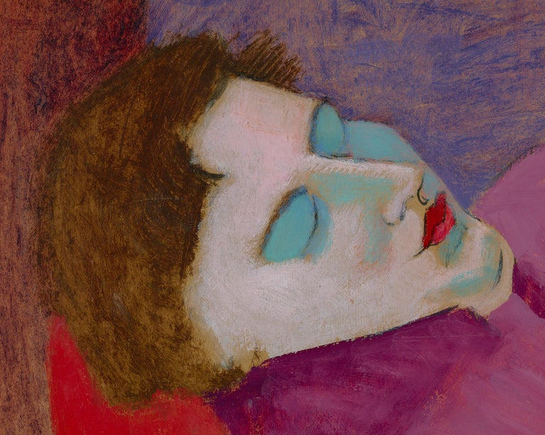 Sleeping Sally - Expressionist Painting by Milton Avery