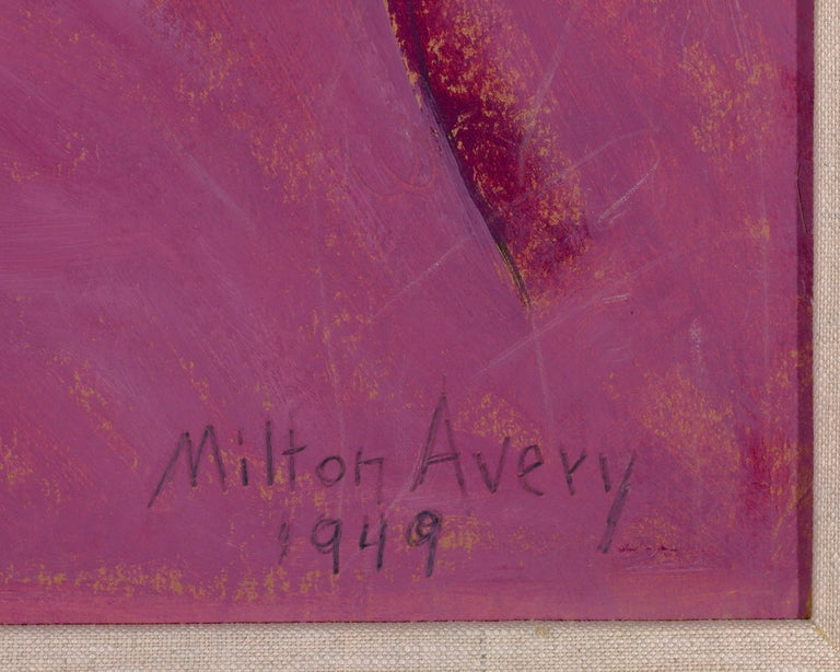Sleeping Sally - Brown Portrait Painting by Milton Avery