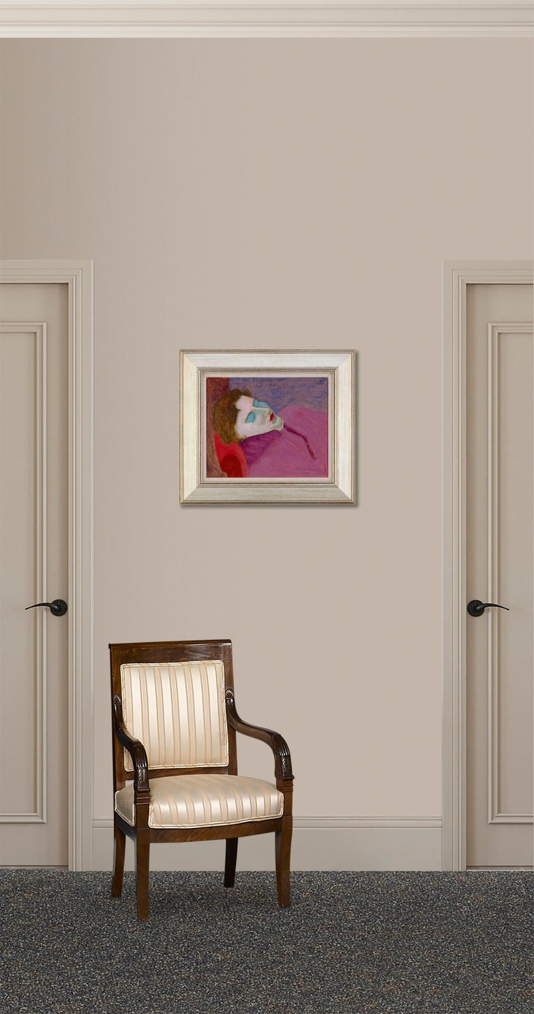 This intimate portrait by American expressionist Milton Avery is a shining example of the artist's ability to convey personal emotion through impassioned use of color. Avery was an important figure in the development of modern art in the early 20th