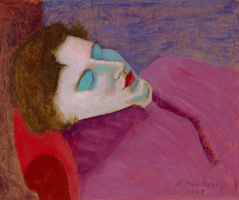 Milton Avery Portrait Painting - Sleeping Sally