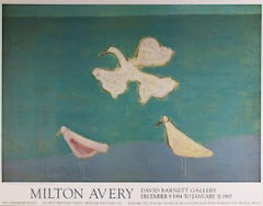 """Flight,"" Expressionist Landscape with Birds Poster by Milton Avery"