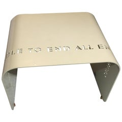"""Milton Glaser Epigram Short Bench """"The End Table to End All End Tables"""""""