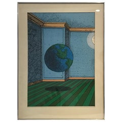 "Milton Glaser ""Give Earth A Chance"" Earth Day Lithography"
