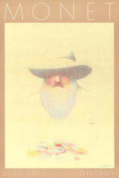 "Milton Glaser-Homage a Monet-36"" x 24""-Poster-Pop Art-Brown-man"