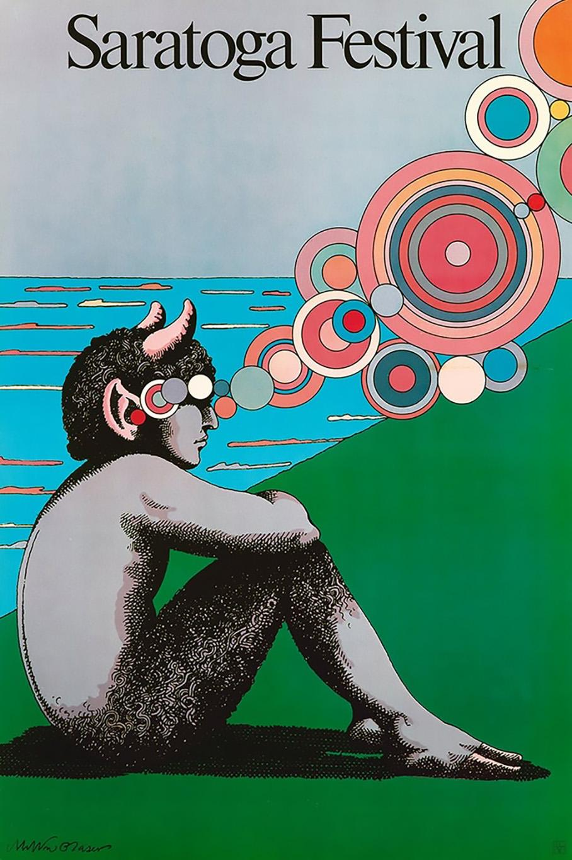 Milton Glaser Saratoga Festival Poster 1980 (Milton Glaser posters)