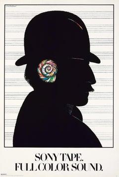 Milton Glaser Sony Tape, Full Color Sound poster 1980 (Milton Glaser posters)