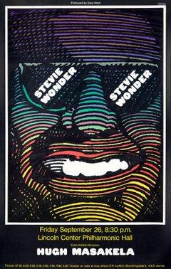 Milton Glaser Stevie Wonder poster  (Milton Glaser 1960s)