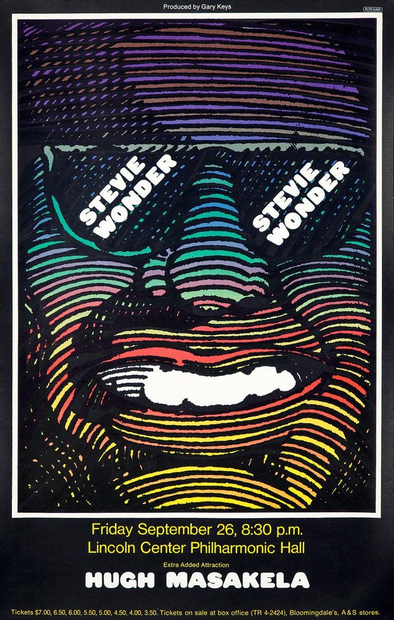 Milton Glaser Stevie Wonder poster (Milton Glaser 1960s poster)  - Pop Art Print by Milton Glaser