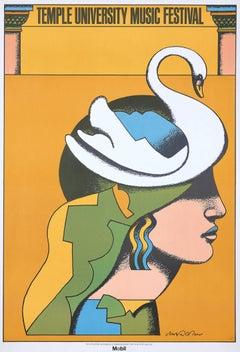 Milton Glaser Temple University Music Festival poster (Milton Glaser posters)