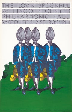 Milton Glaser The Lovin' Spoonful poster (Milton Glaser posters)