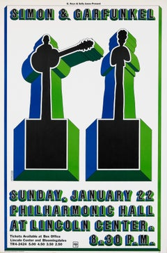 Simon and Garfunkel concert poster by Milton Glaser