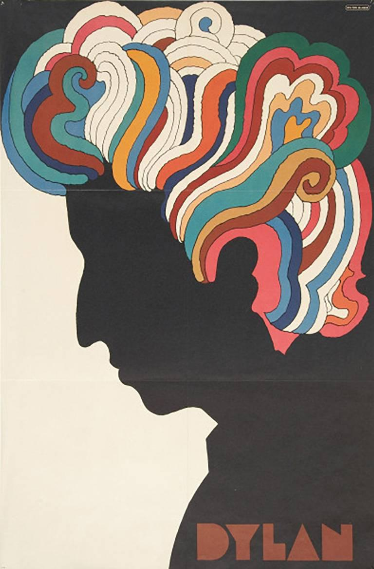 Vintage Bob Dylan Souvenir Poster (Milton Glaser Bob Dylan 1960s)  - Print by Milton Glaser
