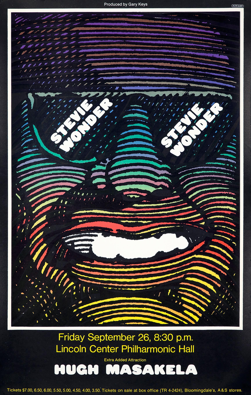 Vintage Milton Glaser Stevie Wonder poster (Milton Glaser posters)