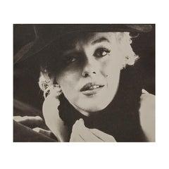 Marilyn Monroe by Milton Greene, The Black Sitting, 1956 - Black and White