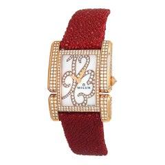Milus Apiana 18 Karat Rose Gold Quartz Ladies Watch API-Z01