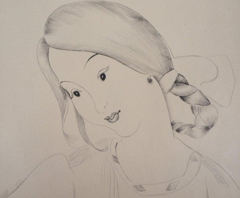 Little Girl's Head - Original Handsigned Etching For Sale 1