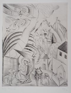Nativity Scene - Original Handsigned Etching