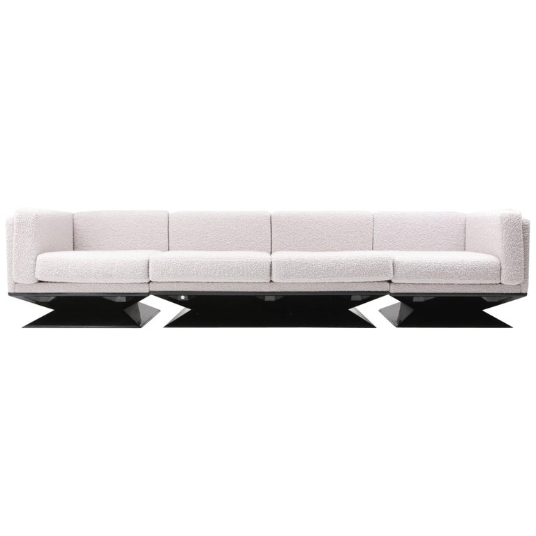 Superb Mim Roma Sectional Sofa In Boucle Wool By Luigi Pellegrin Gmtry Best Dining Table And Chair Ideas Images Gmtryco