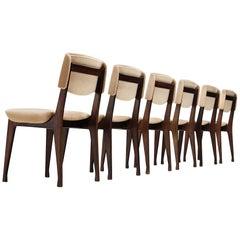 MIM Roma Set of Six Dining Chair, 1960s