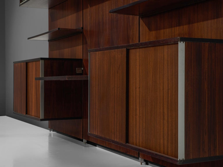 Mid-20th Century MIM Roma Wall Unit in Rosewood For Sale