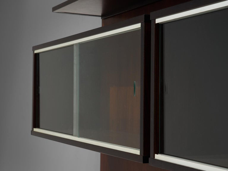 Metal MIM Roma Wall Unit in Rosewood For Sale