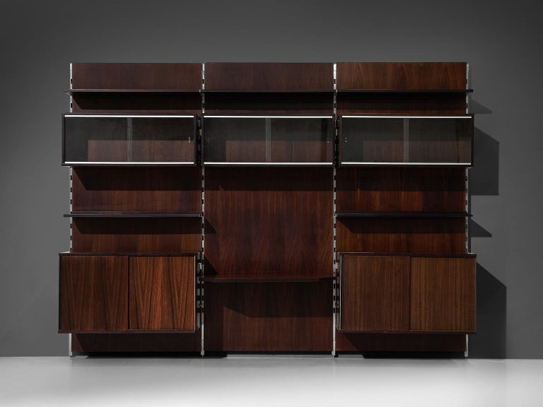 MIM Roma Wall Unit in Rosewood For Sale 1