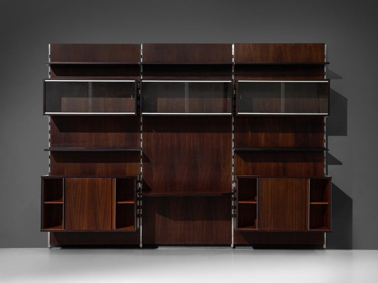 MIM Roma Wall Unit in Rosewood For Sale 2