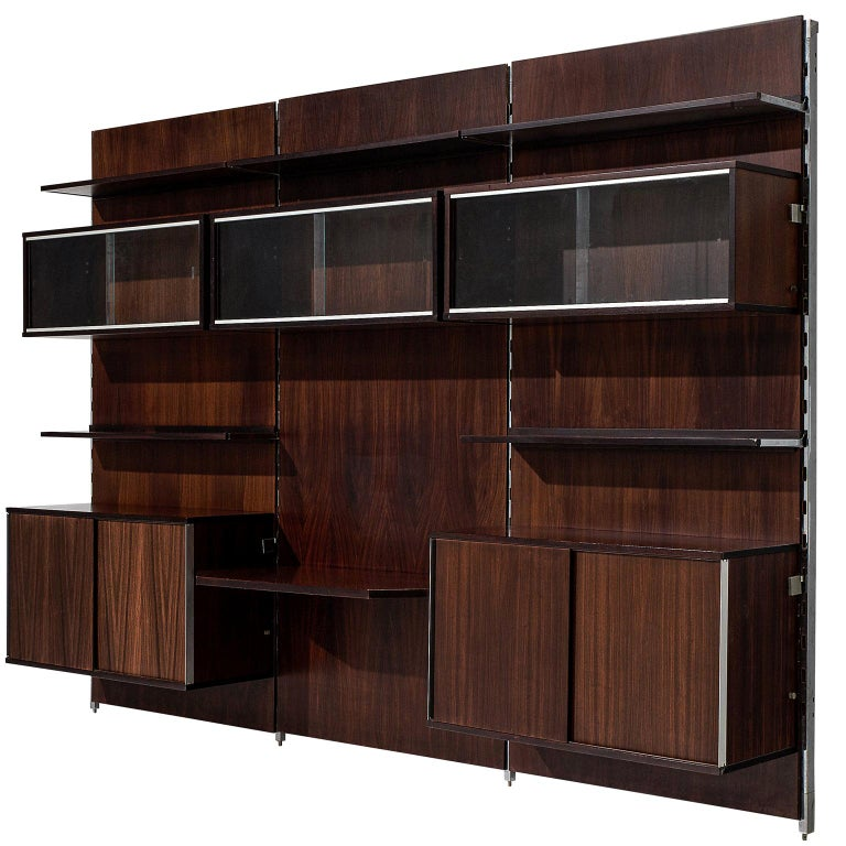 MIM Roma Wall Unit in Rosewood For Sale