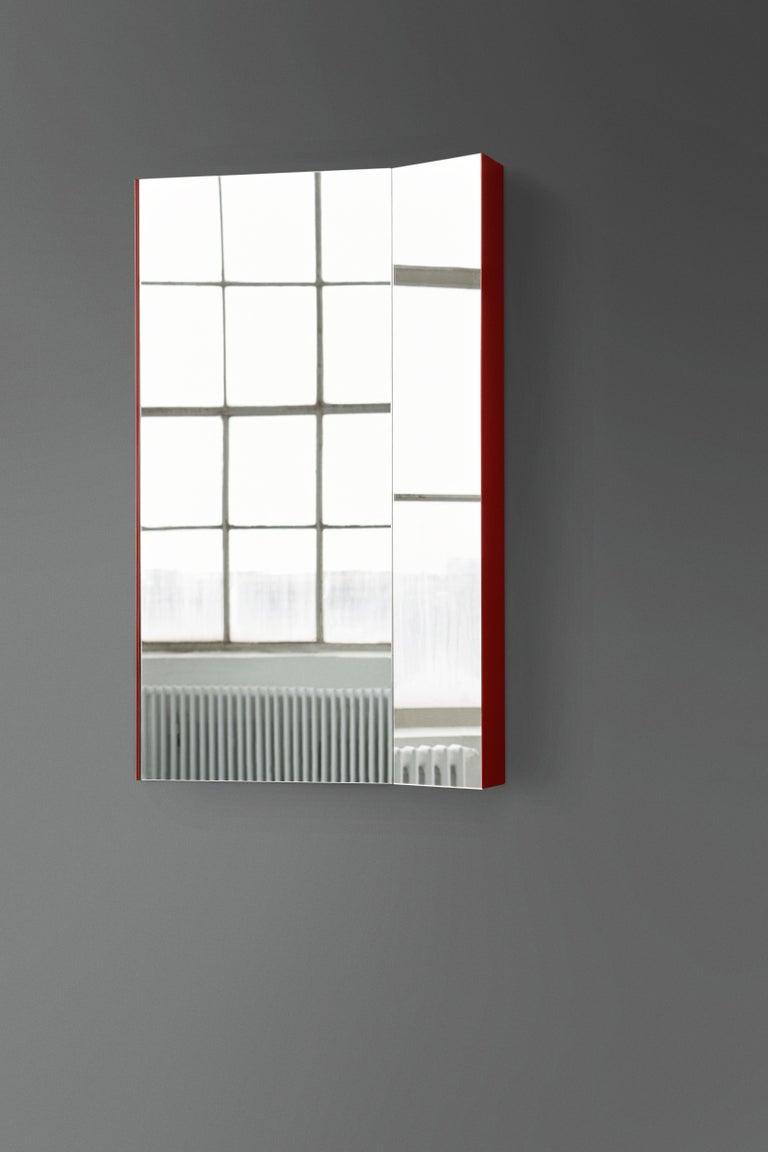 Modern Mimesis Planar Floor or Wall Mirror in Powder Coated Steel For Sale