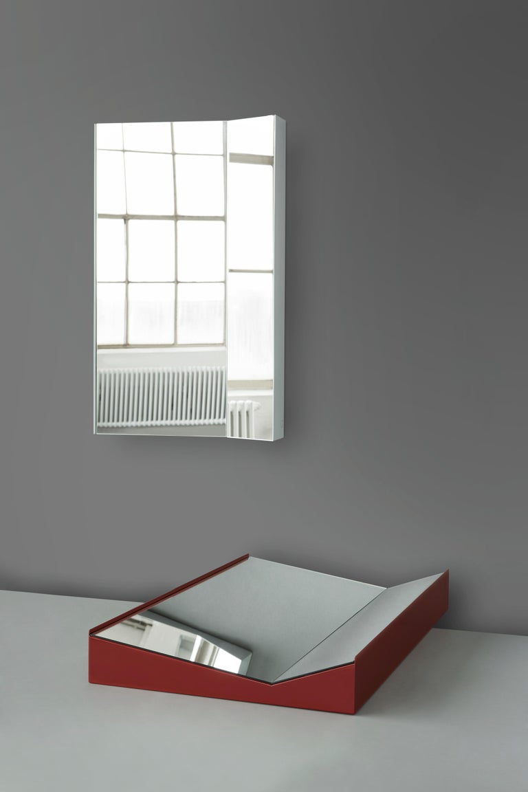 Danish Mimesis Planar Floor or Wall Mirror in Powder Coated Steel For Sale
