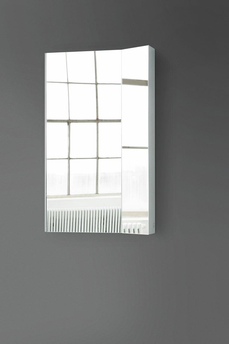 Powder-Coated Mimesis Planar Floor or Wall Mirror in Powder Coated Steel For Sale