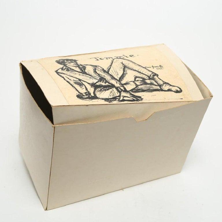American Mimi Gross Grooms Enamel Cut Aluminum Male Sculpture 1980s post-mod Pop Art    For Sale