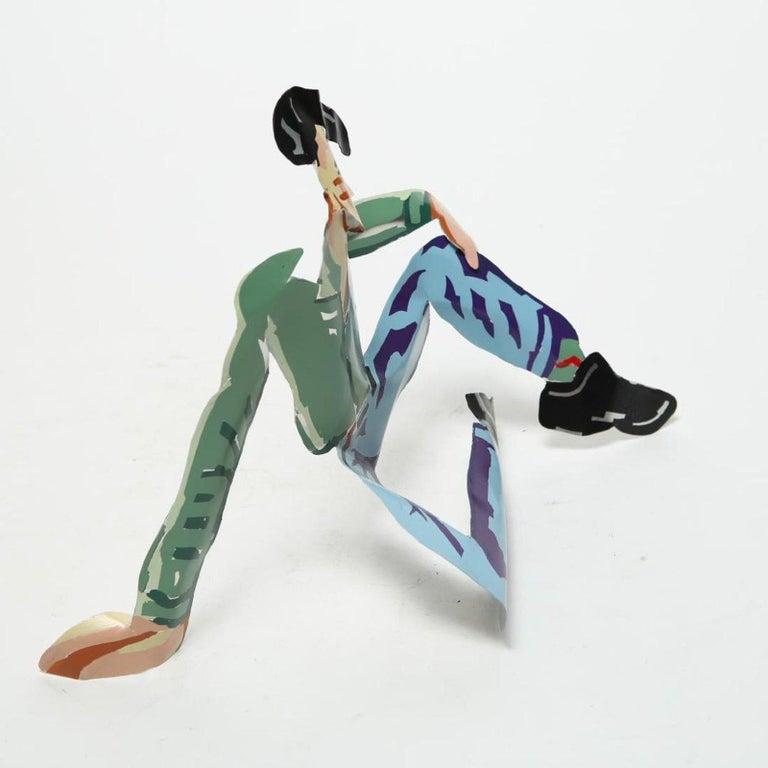 Metal Mimi Gross Grooms Enamel Cut Aluminum Male Sculpture 1980s post-mod Pop Art    For Sale