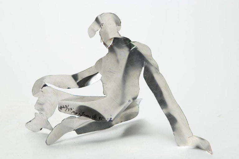Mimi Gross Grooms Enamel Cut Aluminum Male Sculpture 1980s post-mod Pop Art    For Sale 1